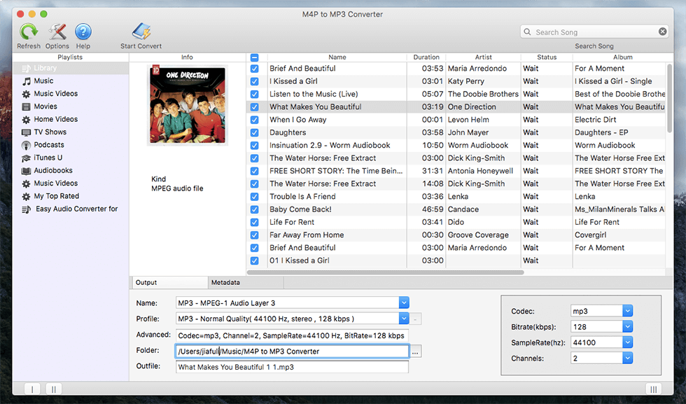 Click to view M4P to MP3 Converter for Mac screenshots